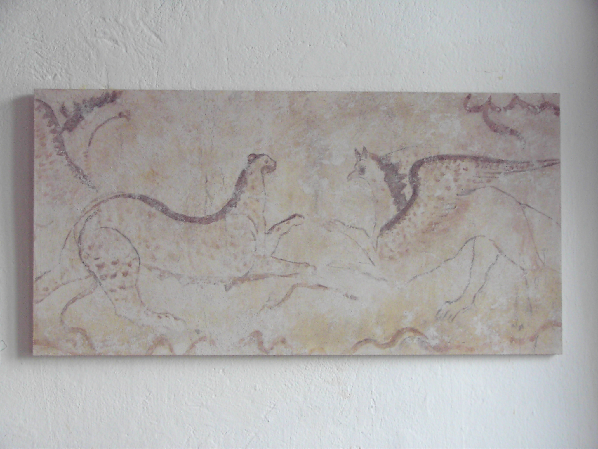 """frühe italienische Grabmalerei """"Fabelwesen"""" ca. 470 v. Chr."""