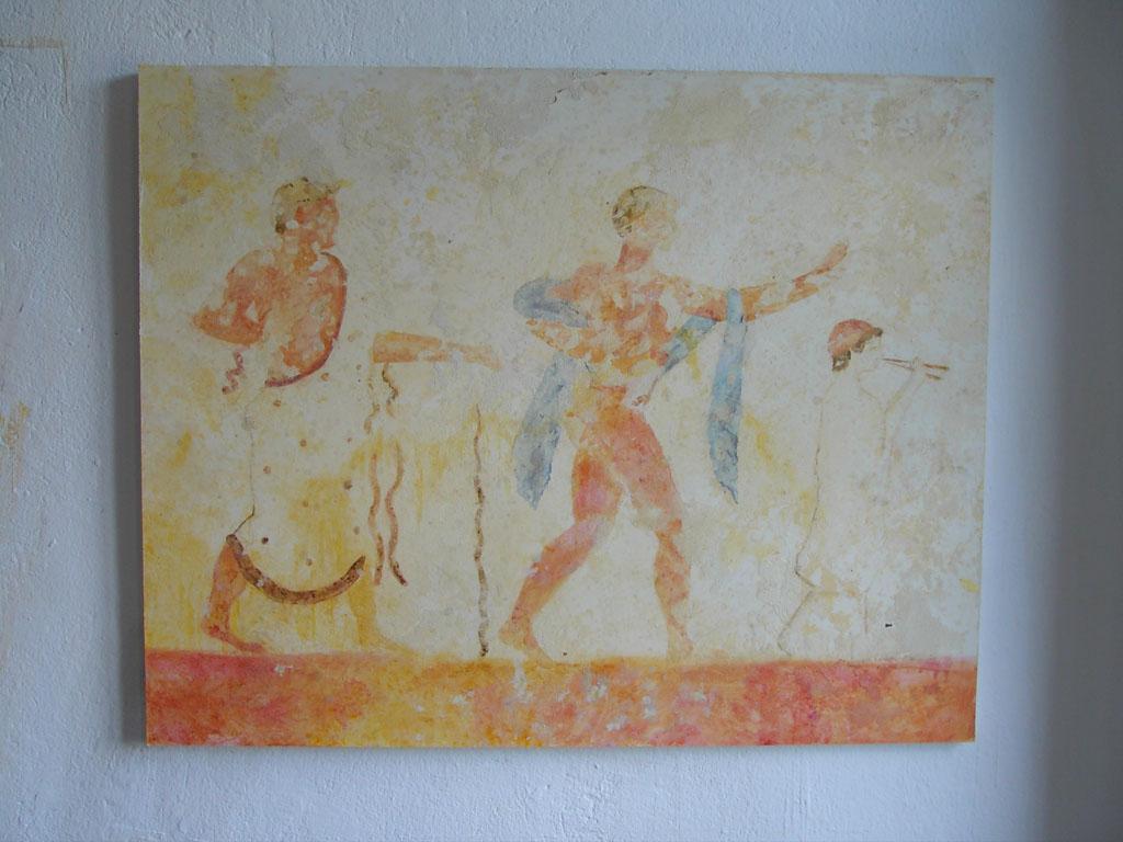 """frühe Italienische Malerei. Episode aus dem """"Grab des Tauchers"""" 470 v. Chr."""