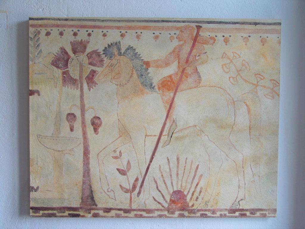 """Etruskische Fresken """"Achilles im Hinterhalt"""" 540 v. Chr."""