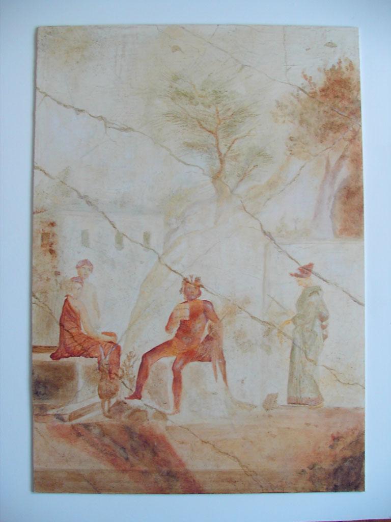 """""""Pan und seine Nymphen"""" Malerei aus Pompeji 79 v. Chr."""